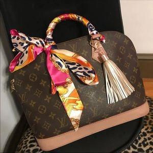 Pink leopard purse Scarf Twillys